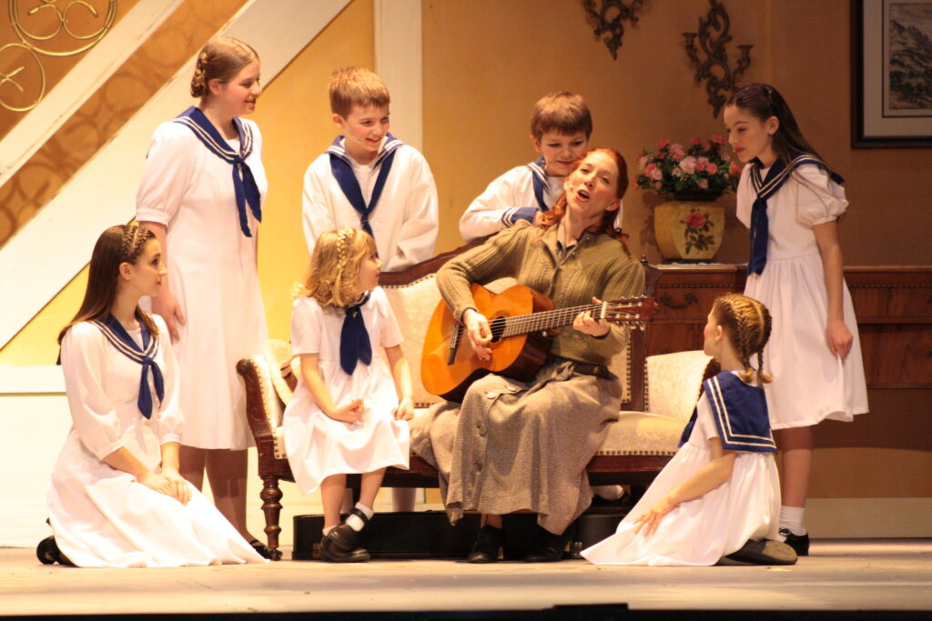 A scene from The Sound of Music play